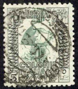 Libya Sc# 49a Used perf 11 1924-1940 5c overprint