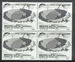 MEXICO Sc#1424 Mint Never Hinged Block of 4