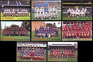 Saint Vincent 1052-1059, MNH, English Football Club Teams
