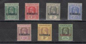 Barbuda KGV 1922 O/P Collection To 1/- SG1/10 MLH J7601