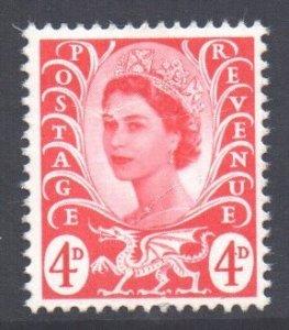 GB Regional Wales Scott 10 - SG W10, 1967 Wilding 4d MNH**