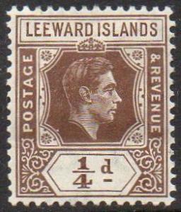 Leeward Islands 1938 ¼d brown MH