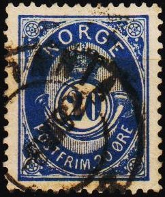 Norway. 1877 20ore S.G.87 Fine Used