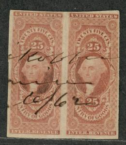 US Sc#R45a Used/VF, Imperf Pair, Cv. $70