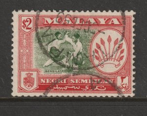 Negri Sembilan a used $2 from the 1957 set