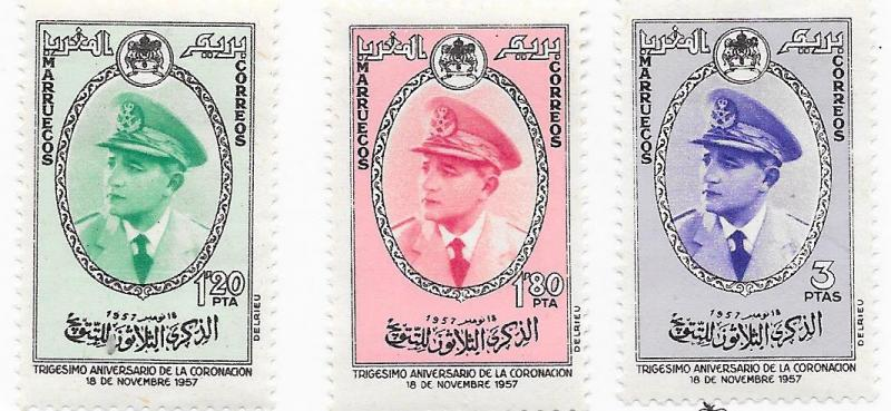 Morocco - Northern Zone # 23-25  (MH)  CV.  $3.30