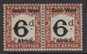 SOUTH WEST AFRICA SGD2 1923 6d BLACK & RED-BROWN MTD MINT