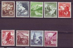 J25385 JLstamps 1938 nazi germany set mhr #b123-31 views