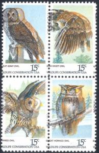 1763a, MNH - DRAMATIC COLOR SHIFT ERROR OWLS WoW