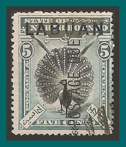Labuan 1901 Postage Due, Pheasant, cancelled  J4,SGD4a