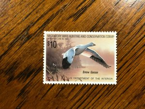 RW 55 1988 $10 Snow Goose Duck Stamp, Mint Never Hinged