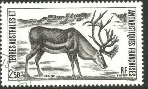 FRENCH SOUTHERN AND ANTARCTIC TERRITORIES 1987 REINDEER Issue Sc 130 VFU