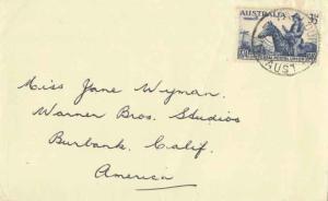 Australia 3 1/2d Universal Post Union 1949 Yallourn, Vic. Aust. 1923-1980 to ...