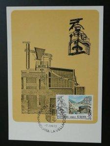 Europa Cept energy watermill maximum card Spanish Andorra 1983