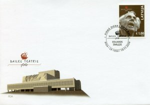 Latvia Performing Art Stamps 2020 FDC Dailes Theatre 100 Years Drama 1v Set