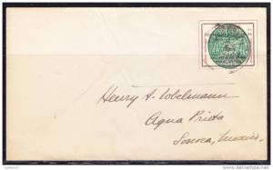 R)1913 CIRCULATED COVER MEXICO  ROULETTED AGUA PRIETA SONORA