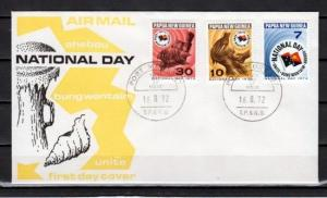 Papua New Guinea, Scott cat. 352-354. National Day issue. First day cover.