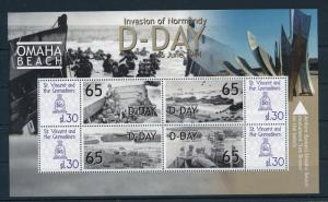 [81120] St. Vincent & Gren. 2009 WWII D-day Invasion of Normandy Sheet MNH