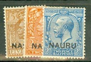 B: Nauru 1-12 mint missing #3 CV $47; scan shows only a few