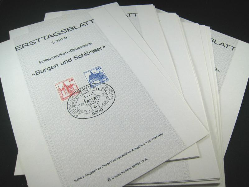 GERMANY FIRST DAY PROGRAM CARDS - 1979, #1 - #27