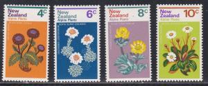 New Zealand # 500-503, Flowers on Alpine Plants, NH, 1/2 Cat.