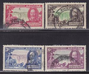 Southern Rhodesia Scott # 33-36 VF-used set nice colors scv $ 39 ! see pic !