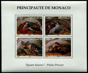 HERRICKSTAMP MONACO Sc.# 2273 Four Season (Paintings) Stamp S/S