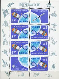 Poland MNH S/S 2248 USSR/USA Space SCV 4.75