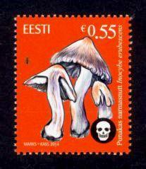 Estonia Sc# 768 MNH Poisonous Mushrooms 2014