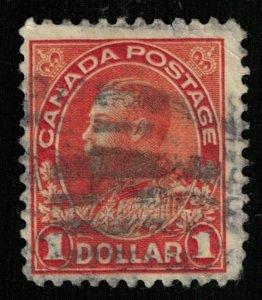 1922-1925, King George V in Admiral Uniform, $1, Canada, SG #255 (T-9184)