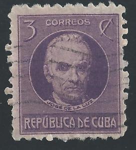 Cuba #267 3¢ Jose de la Luz Caballero