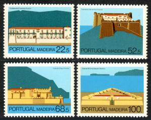 Portugal Madeira 111-114, MNH. Forts in Funchal and Machico, 1986