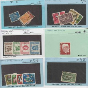 GERMANY 25 SALES CARDS-GLASSINES COLLECTION LOT