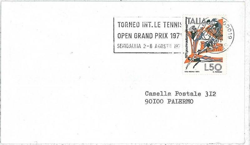 TENNIS -  SPECIAL POSTMARK on CARD   - ITALY 1971