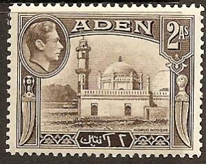Aden  20 Mint OG 1946 2a Aidrus Mosque