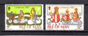 Isle Of Man MNH 252-3 1983 Christmas