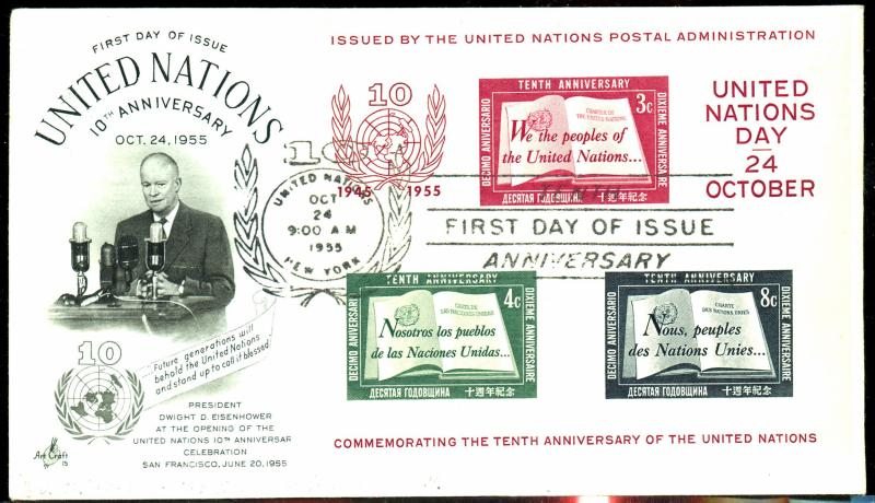 UN #38 Used First Day Cover
