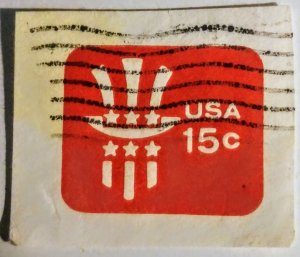 USA U581 – 15c red 1978 used  cut square