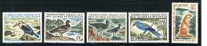 AFARS & ISSAS 1967  FAUNA  #310-314 & #C52 MNH C.V. $91.25
