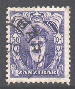 Zanzibar Scott 238 - SG347, 1952 Sultan 50c used