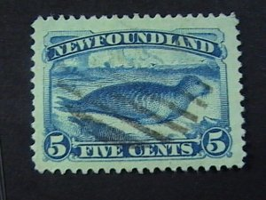 NEWFOUNDLAND # 55-USED---SINGLE------1894