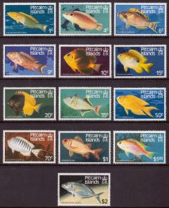 Pitcairn Islands 1984 Fish Set of 13 SG 246-258 MNH