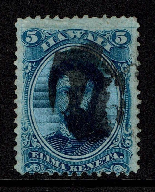 Hawaii SC# 32, Used, lower left thin - Lot 022617