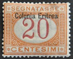 DYNAMITE Stamps: Eritrea Scott #J3 – MINT hr