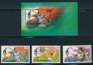 Indonesia - MNH Atlanta Olympic Games Sports Set (1996)