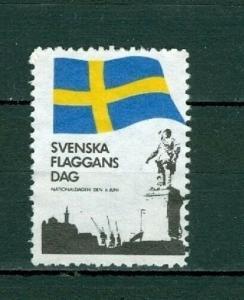 Sweden. Poster Stamp 1968  Flag National Day June 6