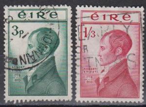 Ireland #149-50 F-VF Used CV $26.35 (B1615)