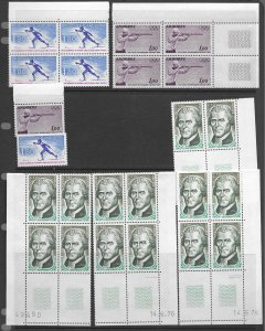 French Andorra 213,248,276,298 MNH in qty ,  vf see desc. 2020 CV$72.00
