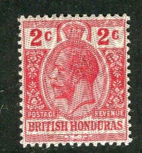 BRITISH HONDURAS; 1915-16 early GV issue fine Mint hinged 2c. value