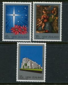 New Zealand MNH 788-90 Christmas 1983
